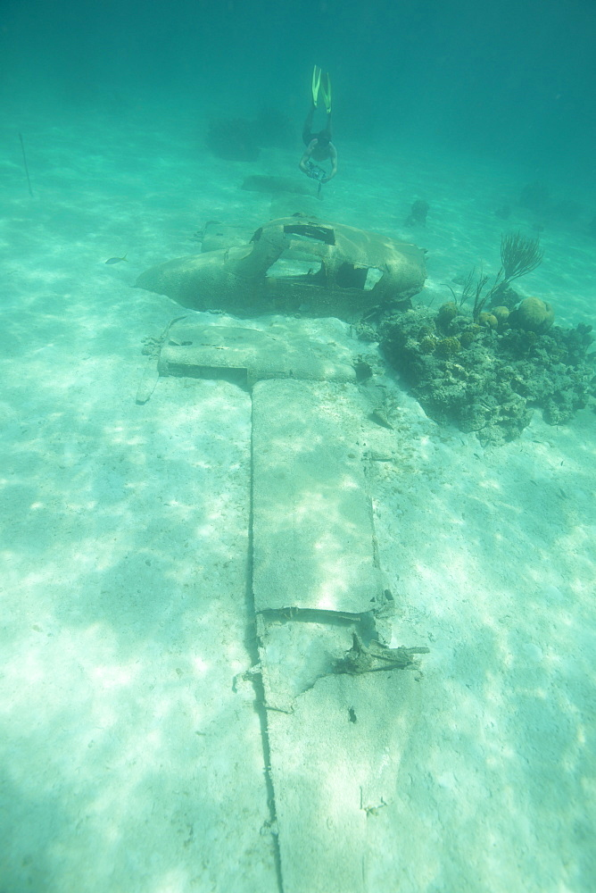 Seaplane from the James Bond film, Bahamas, West Indies, Central America - 934-715