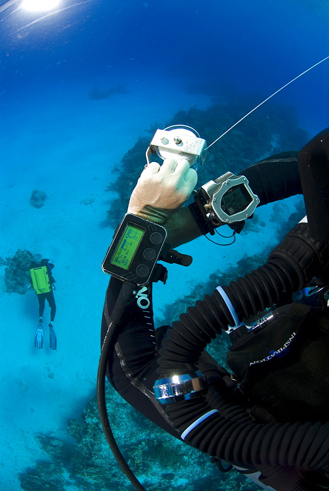 Technical Divers using Trimix, Rebreathers and technical diving equipment, Divetech, Grand Cayman, Cayman Islands, Caribbean - 970-826