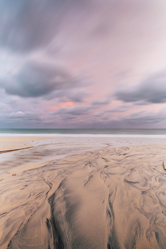 Carbis Bay beach at dawn, St. Ives, Cornwall, England, United Kingdom, Europe  - 974-396
