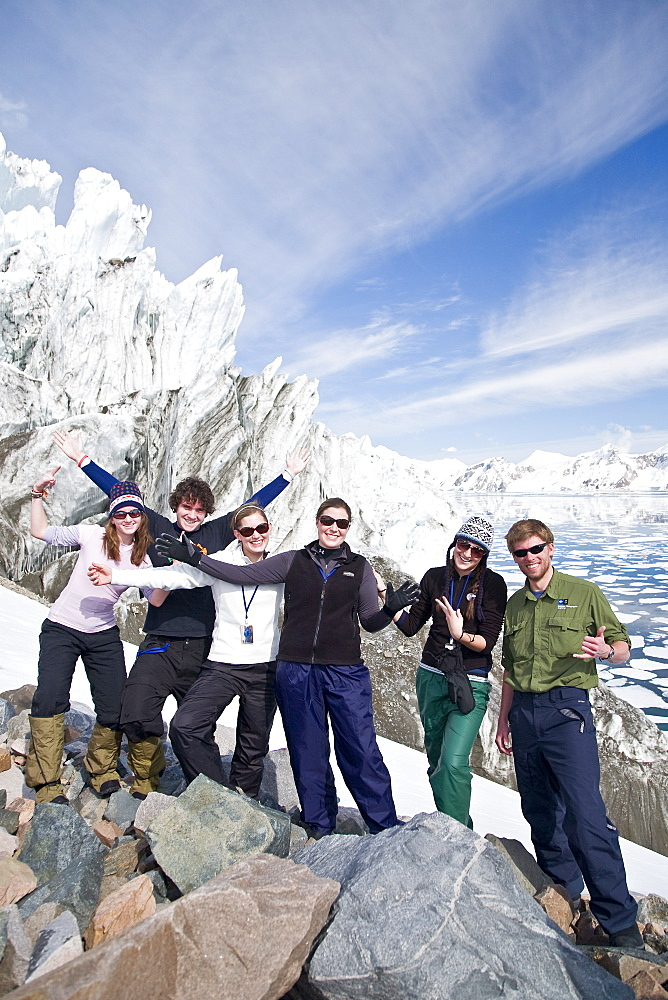 Guests from the Lindblad Expedition ship National Geographic Explorer doing various things in and around the Antarctic Peninsula in the summer months. Lindblad Expeditions pioneered Antarctic travel in 1969 and remains one of the premier Antarctic Expedition providers to this very day. No property or model releases are available for this image.