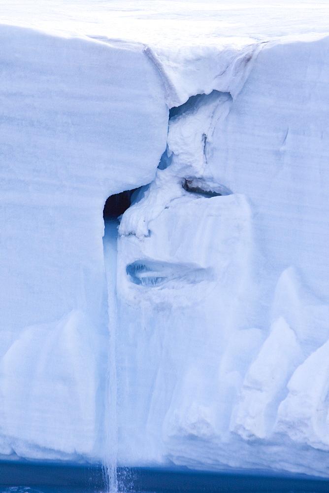 Views of Austfonna, an ice cap located on Nordaustlandet in the Svalbard archipelago, Norway