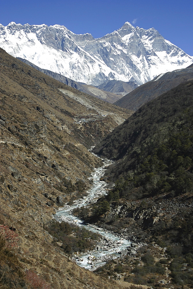 River & Mountain Scenic. Everest Region, Nepal - 986-42