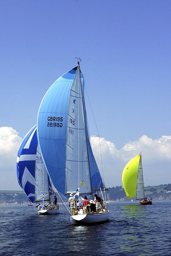Yachts. Classic Boats, Sailing River Dart, Dartmouth, Devon. - 986-6