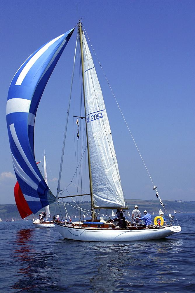Yachts. Classic Boats, Sailing River Dart, Dartmouth, Devon. - 986-7