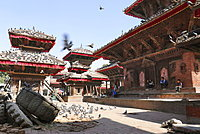 Pigeons On The Durbar Square Of Kathmandu