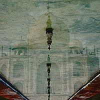 Upside-Down Reflection Of Taj Mahal In A Pool Of Water, Agra, Uttar Pradesh, India