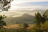 Countryside view, vineyards, Tuscany, Italy