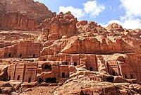 Tombs, Street of Facades, Petra, UNESCO World Heritage Site, Jordan, Middle East