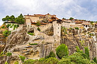 Holy Monastery of Great Meteoron, UNESCO World Heritage Site, Meteora Monasteries, Greece, Europe