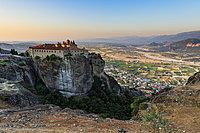 Holy Monastery of St. Stephen at sunset, UNESCO World Heritage Site, Meteora Monasteries, Greece, Europe