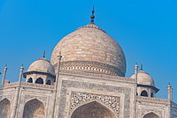 Details of the Taj Mahal, UNESCO World Heritage Site, Agra, Uttar Pradesh, India, Asia