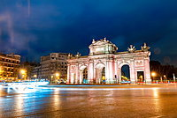 Puerta de Alcala, regarded as the first modern post-Roman triumphal arch built in Europe, Madrid, Spain, Europe