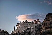 Close up on Varlaam Monastery, Meteora, UNESCO World Heritage Site, Thessaly, Greece, Europe