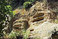 The Typhoon Tombs, Etruscan Necropolis of Sovana, Sovana, Grosseto, Tuscany, Italy, Europe