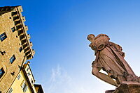 Statue of the Spring, Ponte Santa Trinita, Florence (Firenze), Tuscany, Italy, Europe