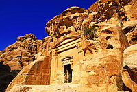 Old rock-church in Little Petra, Jordan, Asia