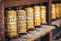 Buddhist Prayer Wheels, Golden Temple, Patan, Kathmandu Valley, Himalaya Region, Nepal, Asia