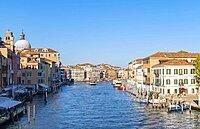 Grand Canal, left Church Chiesa di San Geremia, Venice, Veneto, Italy, Europe