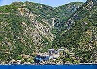 Monastery of St. Gregory, Unesco world heritage site Mount Athos, Greece, Europe