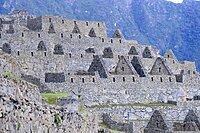 Inca ruined city at dawn, Machu Picchu, Urubamba province, Peru, South America