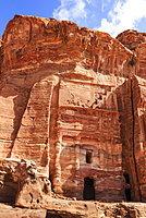 Silk Tomb, Royal Tombs, Petra, UNESCO World Heritage Site, Jordan, Middle East