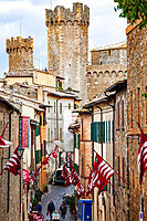 Medieval town of Montalcino, Tuscany, Italy, Europe