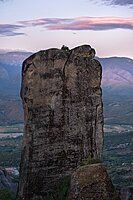 Rocks formation in Meteora, Thessaly, Greece, Europe