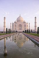 The Taj Mahal, UNESCO World Heritage Site, reflected in the Lotus Pool, Agra, Uttar Pradesh, India, Asia