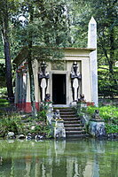 Egyptian temple, Giardino Stibbert, Florence (Firenze), UNESCO World Heritage Site, Tuscany, Italy, Europe