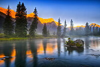 Alpine glow in the Rocky Mountains, British Columbia, Canada