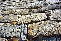 Detail of the ancient Great Wall of China at Mutianyu, north of Beijing (formerly Peking) , China
