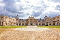 Front view of the Royal Palace (Palacio Real), Aranjuez, Community of Madrid, Spain, Europe