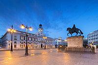 Real Casa de Correos, (Royal House of the Post Office), Plaza de la Puerta del Sol, Madrid, Spain, Europe