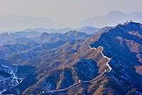 Dawn over the Jinshanling and Simatai sections of the Great Wall of China, Unesco World Heritage Site, China, East Asia