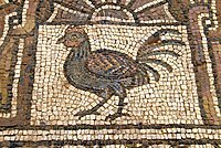 Mosaics in the Byzantine church, Archaeological site of Petra, Jordan, Middle East