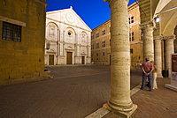 Pio II square, Pienza, Val d'Orcia, Tuscany, Italy, Europe