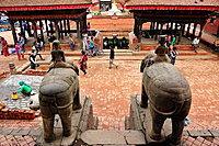 Water tank from Vishwanath Hindu temple, Durbar Square, Patan, Nepal