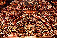 Woodcarving, the Palace of Fifty-five Windows, Durbar Square, Bhaktapur, Nepal