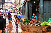 Vegetable seller, Bhaktapur, Nepal