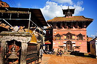Hindu Temple, Bhaktapur, Nepal.