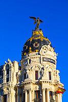 Exterior of Metropolis Building, Madrid, Spain, Europe