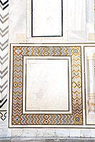 Detail, Taj Mahal, UNESCO World Heritage Site, Agra, Uttar Pradesh, India, Asia