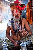 Sadu, Hindu ascetic, Durbar Square, Bhaktapur, Nepal.