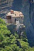 The monastery Roussanou at the Meteora Rocks, Thessaly, Greece, Europe