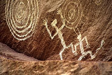 Prehistoric pictographs, Canyon de Chelly National Monument, Arizona