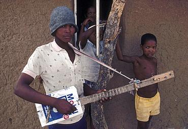 Bushman resettlement village at Mabutsane, Botswana