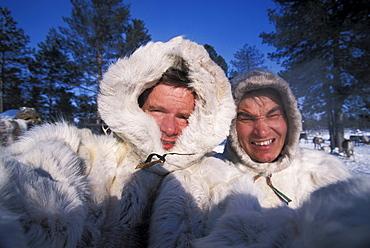 self-portrait at a Khanty reindeer camp, northwestern Siberia, Russia