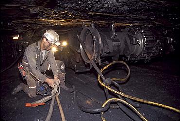 A miner inside a coal mine near Durango, Colorado