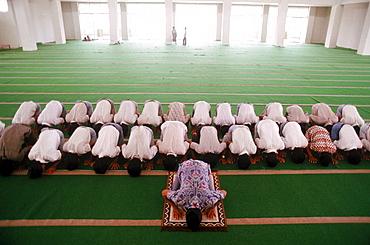Karanganyar City Mosque, where young men come after school to pray and study the Koran.