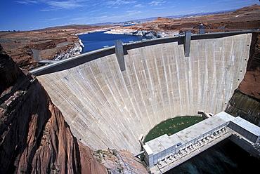 Glen Canyon Dam and Lake Powell near Page, Arizona